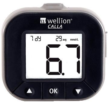 Глюкометр Wellion CALLA Light без кодировки Австрия. бордовый
