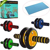 ТРЕНАЖЕР MS 0872 колесо для мышц пресса, 27см,диаметр14см, 4 цвета, в кор-ке