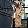 Мужское пальто пуховик с капюшоном. Модель r1-168