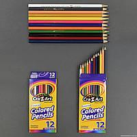 Карандаши цветные 555-633 (240) 12шт в упаковке, 12 цветов