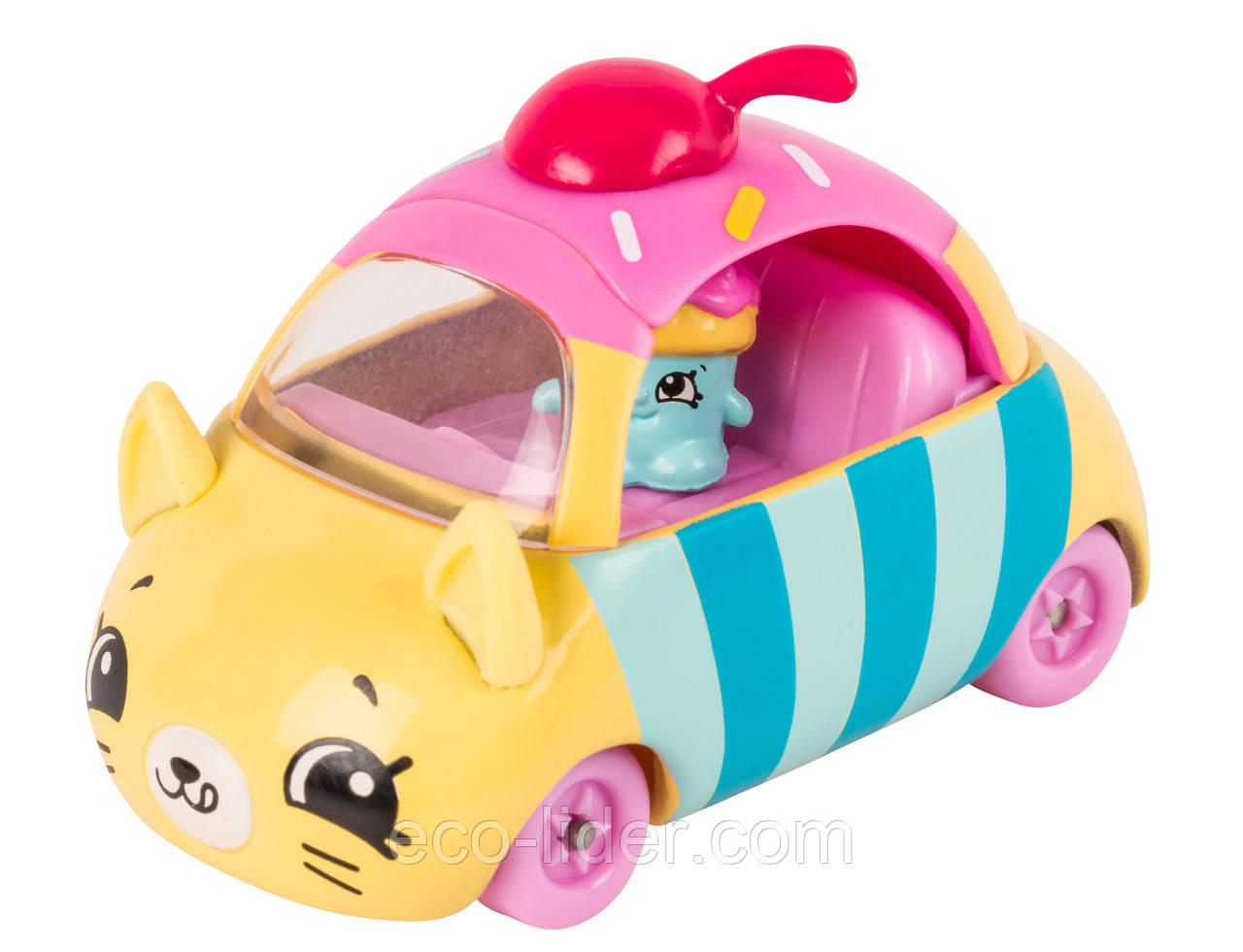 Мини-машинка SHOPKINS CUTIE CARS S1 - СТРЕМИТЕЛЬНЫЙ КЕКСИК (с мини-шопкинсом)