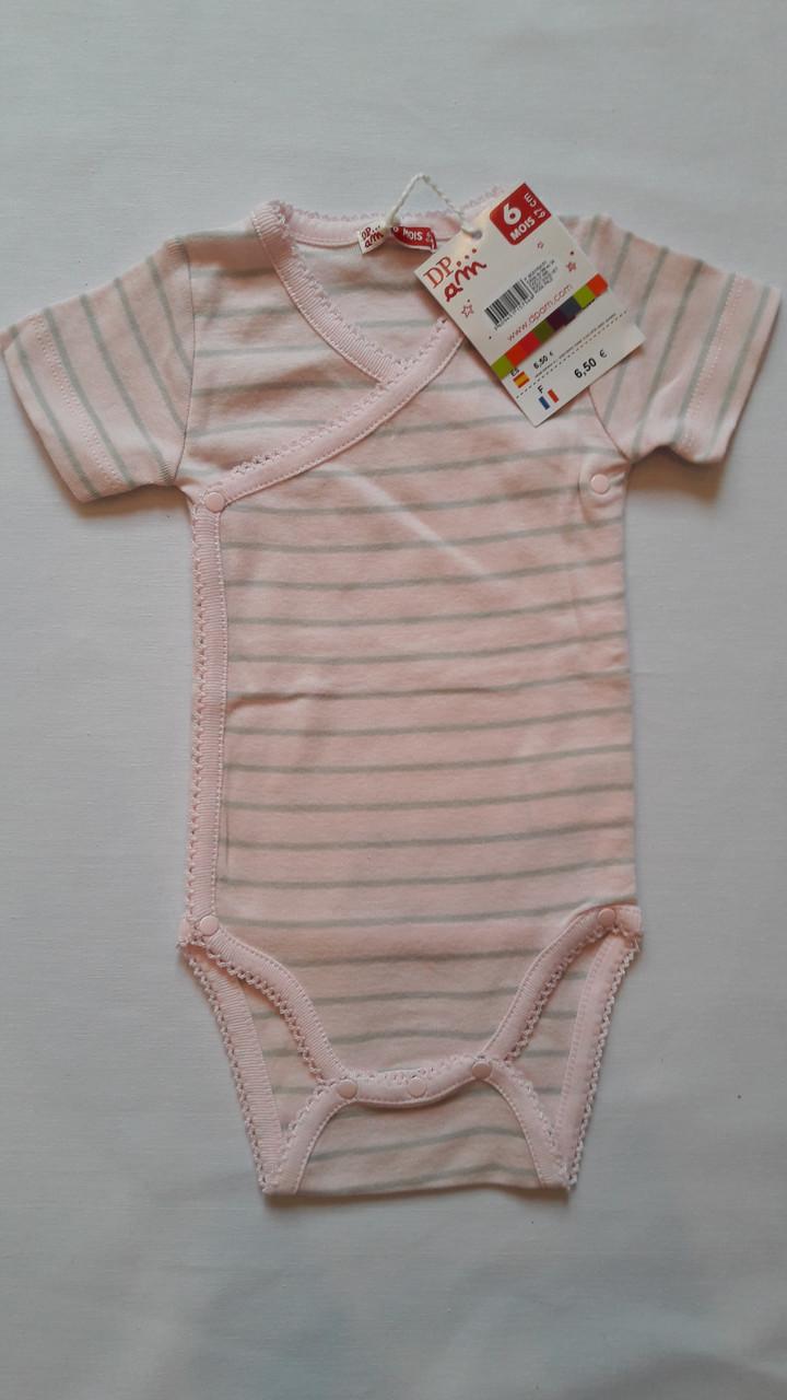 Боди для ребенка DPam розовый в полоску