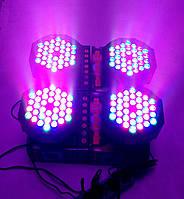 Световой прожектор led PAR 36x1 dmx. Подсветка интерьерная, заливочный свет, светомузыка