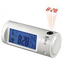 Цифровые часы с ЖК-дисплеем, подсветкой и проекцией времени, CHAOWEI®