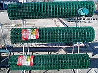 Сварная сетка с полимерным (ПВХ)  покрытием для ограждений и заборов. Ячейка 50х100, рулон 10 м,высота 2м