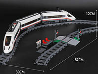 """Конструктор Lepin 02010, """"Скоростной пассажирский поезд"""" (City), 959 деталей, аналог Lego 60051"""