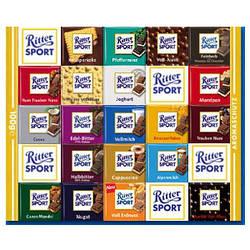 """Шоколад """"Ritter sport"""", 100 г., Германия, в ассортименте."""