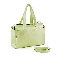 Сумка PRIME ментол мадрас/ женская вместительная сумка
