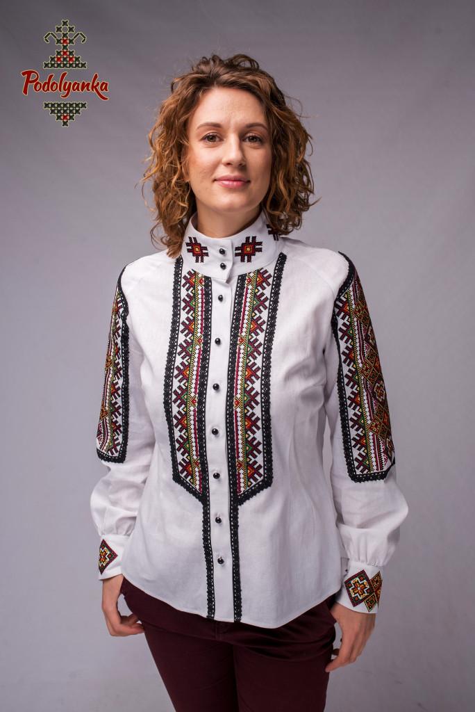 Жіноча вишита сорочка Карпати зі стійкою - Podolyanka в Львове fbd67951cbc2b