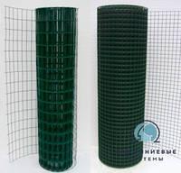 Сварная сетка с полимерным ПВХ покрытием для ограждений и заборов. Ячейка 50х50, рулон 25м,высота 2м, фото 1