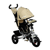 Bелосипед трехколесный  Best Trike 6588 В с надувными колесами Бежевый 58623