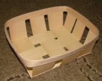 Эко упаковка корзинки, плетёные формы из дерева (шпона) форма с размерами 205*120*80мм, фото 1