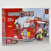 """AUSINI 21601 (36) """"Пожарная машина"""" 309 дет, уровень сложности ***, в коробке"""