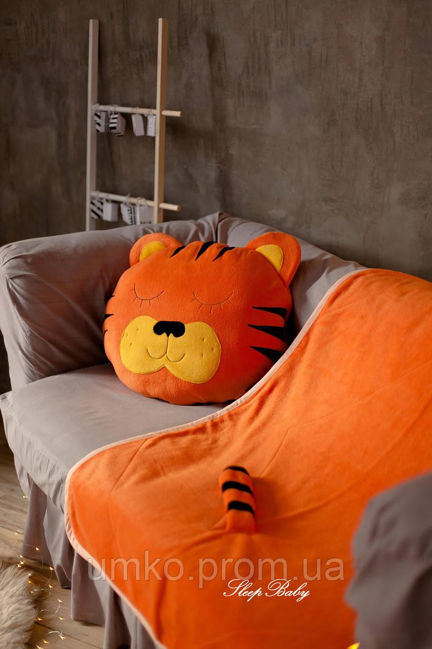 """Плед з подушкою (для дітей), комплект """"Тигреня"""". Розмір S"""