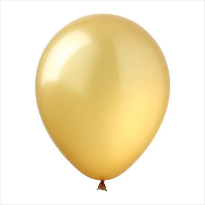Латексный воздушный шар золотой  24 см