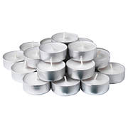 СМОТРЕВЛИГ Свеча греющая ароматическая, ваниль и морская соль, неокрашенный, 00337714, IKEA, ИКЕА, SMATREVLIG