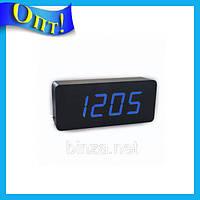 Настольные часы с синей подсветкой VST-865-5!Опт