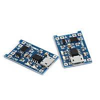 TP4056 с защитой модуль заряда Li-ion аккумуляторов, MicroUSB