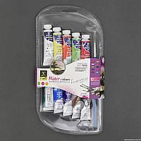 Краски для рисования 1010 / 555-539 (72) 10шт в упаковке, 10 цветов, 10мл, с кисточкой