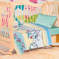 Постельное белье в детскую кроватку Пушистик (поплин)