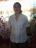 Блуза белая из батиста Индия