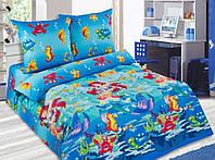 Постельное белье в детскую кроватку Морская сказка (поплин)