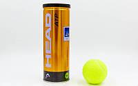 Мячи для большого тенниса HEAD ATP METAL CAN 570303 (3 шт)