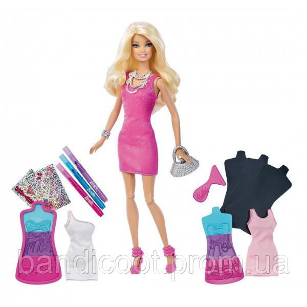 Кукла Барби Арт Студия дизайна одежды - Блондинка Barbie Fashion Design Plates Doll
