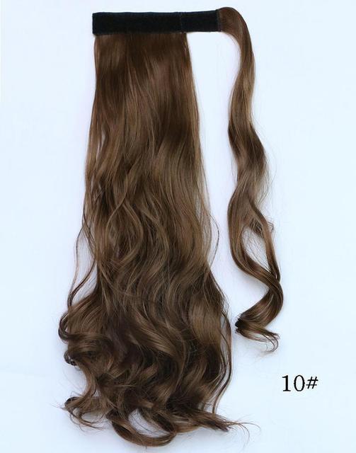 Хвост шиньон из искусственных волос №10 русый длина 47см