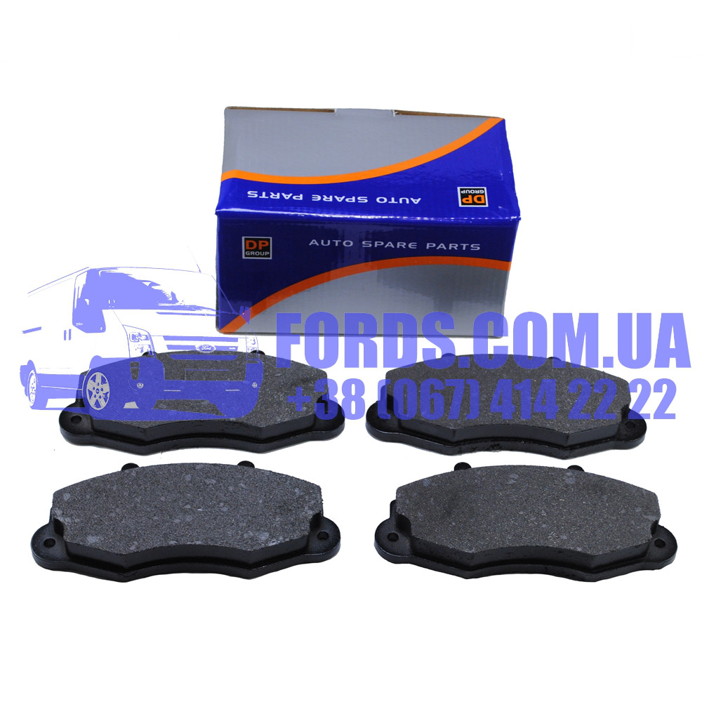 """Колодки тормозные передние FORD TRANSIT 1991-2000 (R=14"""") (1301589/93VX2K021AB/DP702) DP GROUP"""