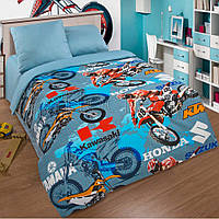 Постельное белье в детскую кроватку Мотокросс (поплин)