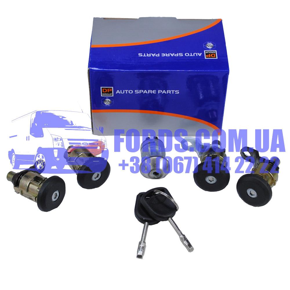 Комплект личинок замков FORD TRANSIT 1991-2000 (5ШТ) (1112385/95VBB22050BG/DP609) DP GROUP