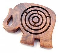 """Игра """"лабиринт"""" Слон из красного дерева Арт.1534"""