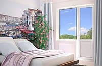 Пластиковий балконний блок REHAU Euro-Design 60 з однокамерним склопакетом 4/16/4, фото 1