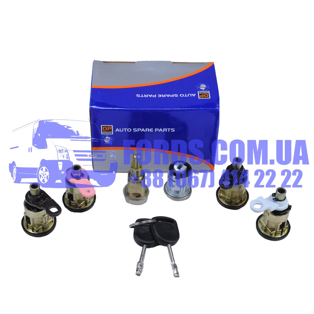 Комплект личинок замков FORD TRANSIT 1991-2000 (6ШТ) (1112385/95VBB22050FG/DP610) DP GROUP