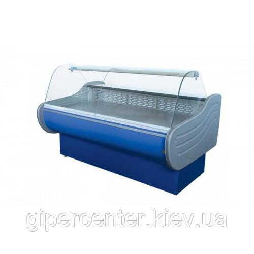 Холодильная витрина Айстермо ВХСК ЕВРОПА 2.0 Д (0...+8°С, 2000х1160х1200 мм, гнутое стекло)