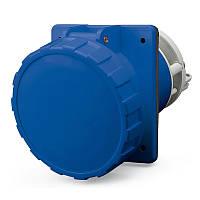 Розетка щитовая Scame 125A 230V 2P + PE IP-67 угловая (Optima)