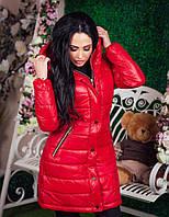 Женская куртка на синтепоне  с нашивкой MONCLER