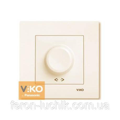 Світлорегулятор (диммер) 600Вт Viko Karre прихованої проводки крем (Туреччина)