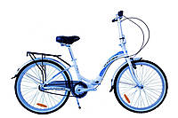 "Складной велосипед Winner Ibiza 24"" бело-голубой"
