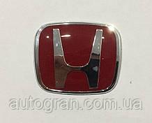 Емблема керма Honda 50ммх40мм червона