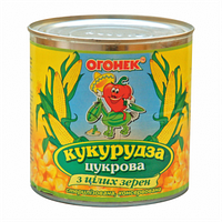 ТМ Огонек Кукуруза 420 г, ж/б(Украина) 12 шт/уп