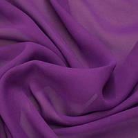 Шифон  однотонный  фиолетовый