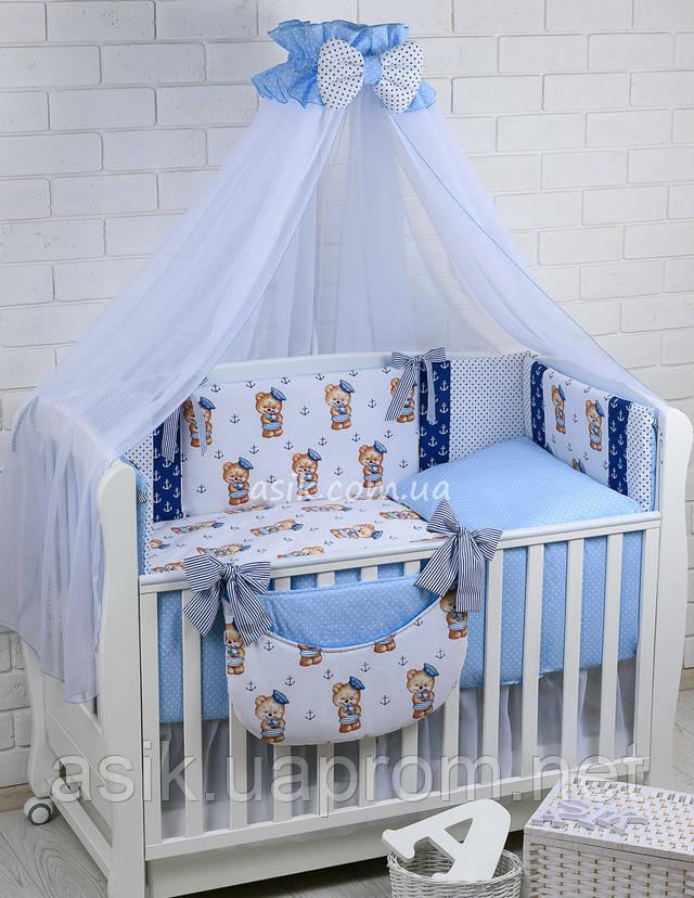 Набор постельки в кроватку для мальчика
