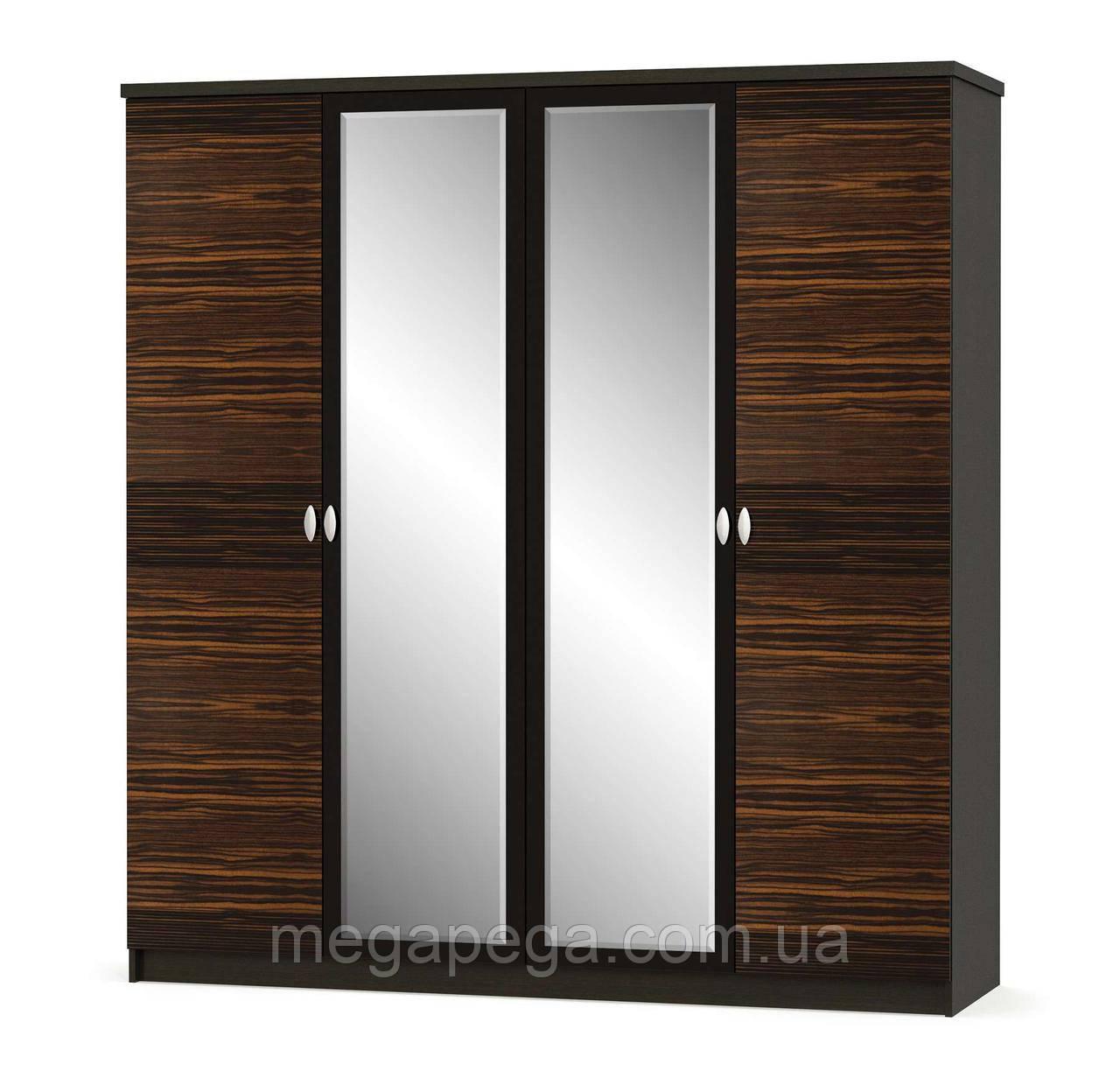 """Шкаф 4Д """"Ева макасар"""" Мебель Сервис"""