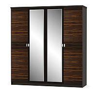 """Шкаф 4Д """"Ева макасар"""" Мебель Сервис, фото 1"""