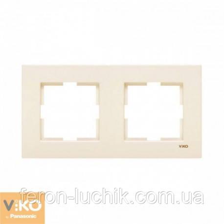 Рамка 2-я ViKO Karre горизонтальная, вертикальная (крем)