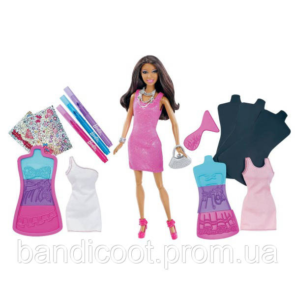 Кукла Барби Студия дизайна одежды - Афро-Американка Barbie Fashion Design Plates African-American Doll