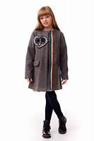 Пальто кашемировое на девочку Chanel серого цвета.