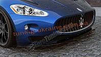 Диффузор на передний бампер для Maserati Granturismo 2007-2011